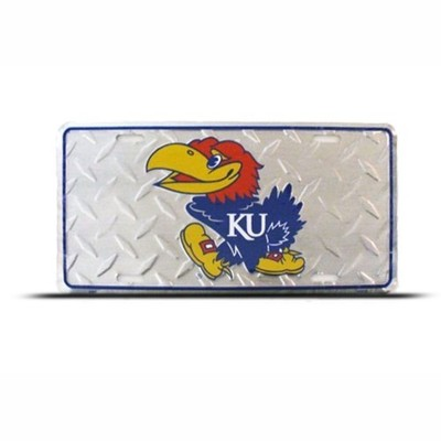 Kansas Jayhawks NCAA Metal Auto License Plate