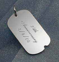 In Store Diamond Engraved Pet ID's, Military ID's Luggage Tags and Equine Plates