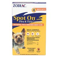 Zodiac Spot On Flea Drops For Puppy Toy & Mini 15lb 4Pack