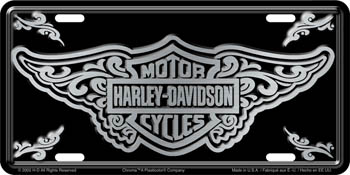 New Harley-Davidson Bar & Shield Filigree Bright Stamped License Plate