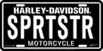 Harley-Davidson SPRTSTR Stamped Metal License Plate