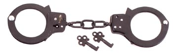 Double Lock Quality Steel Black Handcuffs