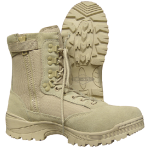 Tru Spec 4054 Desert Tan Zipper Military Boot