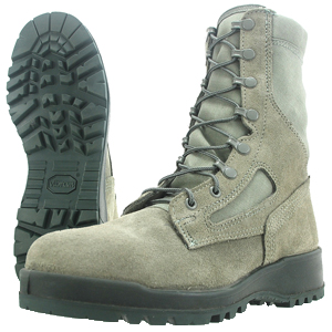 Wellco S161F Women's Sage Green Hot Weather Steel Toe Combat Boots