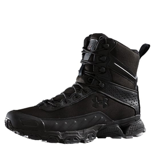 Under Armour Valsetz 7in Side Zipper Black Tactical Boots