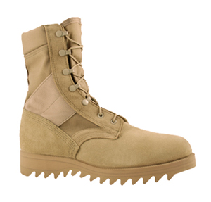 McRae 4188 Men's Hot Weather Desert Tan Combat Boots (Ripple Outsole)