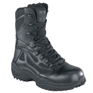 Reebok RB8874 Men's Rapid Response Composite Toe Side Zip Black Boot