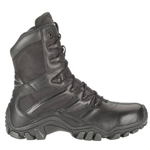 Bates E02348 Delta-8 Men's Black Side Zip Tactical Boot