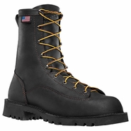 Danner 15546 Bull Run 8in Black Plain Toe Work Boot