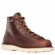 Danner 15552 Bull Run 6in Brown Cristy Plain Toe Work Boot