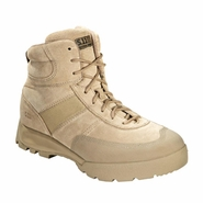 "5.11 Advance 6"" Desert Tan Side Zip Tactical Boot"