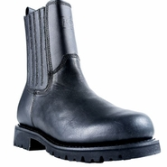 Ridge MC206 All Leather Black Side Zipper Boot
