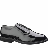 Bates E00007 Lites Men's Black High Gloss Oxford w Leather Sole