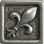 Marazzi Romance Collection Fleur De Lis Nickel Insert 1x1