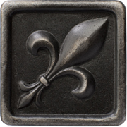 Marazzi Romance Collection Fleur De Lis Wrought Iron Insert 1x1