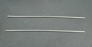 """Pure Silver Wire 9999 10 Gauge 4"""" - 2 Pieces"""