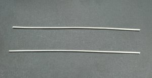 Pure Silver Wire 9999 12 Gauge 6 Inches - 2 Pieces