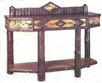 Old Hickory Adirondack Console Table