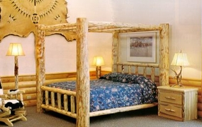 Mountain Log Canopy Bed