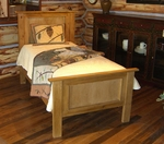 Rustic Alder Panel Bed