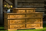 Rustic Alder 2 over 6 Drawer Chest