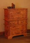 Rustic Alder 6 Drawer Chest