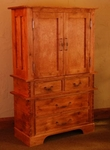 Rustic Alder 4 Drawer Armoire