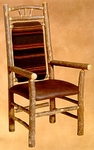 Wagon Wheel High Back Arm Chair