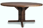 "54"" Drop Leaf Pedestal Table"