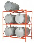 DR6-3 --> Economical Drum Rack, 6 drums, 3 shelves