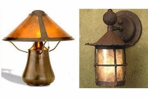 mica lamp company mica lamps rustic spanish style lighting
