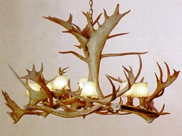 Caribou 8 lamp antler chandelier large lodge craft caribou 8 lamp antler chandelier large aloadofball Image collections