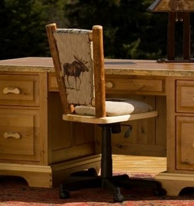 Desk Chairs. Lodge Furniture, Rustic Lighting And Cabin Decor