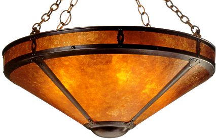 Large mission chandelier 24 mica lamp company lodge craft large mission chandelier 24 aloadofball Gallery