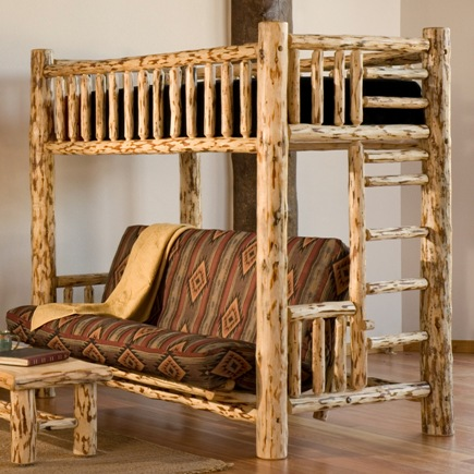 Twin Over Full Log Futon Lodge Craft