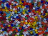 2-4mm Transparent & Opaque Millefiori Mix  1 oz.