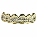 Gold 2 Row Top Grillz