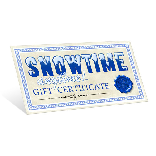 Snowtime Anytime Gift Certificate