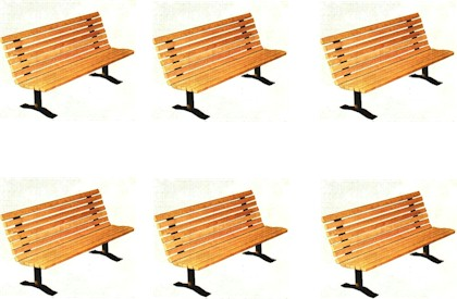 Windsor Series Park Bench Package of 6