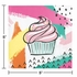 Cupcake Chic Beverage Napkins 192 ct