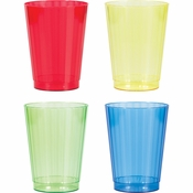 12 oz Assorted Colors Fluted Plastic Tumblers 144 ct