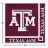 Maroon and white Texas A&M University Beverage Napkin sold in quantities of 20 / pkg, 12 pkgs / case
