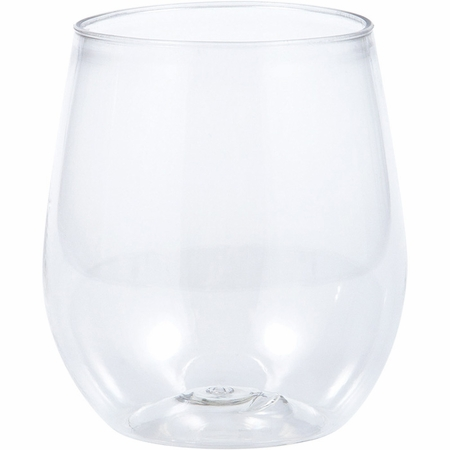 14 oz Plastic Stemless Wine Glasses 24 ct