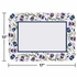 "Purple and blue floral print Trumpet Border 14"" x 18"" Traymat is sold in quantities of 1,000 / pkg, 1 pkg / case"