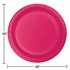 Touch of Color Hot Magenta Banquet Plates in quantities of 24 / pkg, 10 pkgs / case