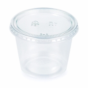 5.5 oz Clear Portion Cups with Lids 192 ct