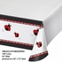 Red and black Ladybug Fancy Tablecloths sold in quantities of 1 / pkg, 6 pkgs / case