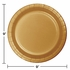 Touch of Color Glittering Gold Dinner Plates in quantities of 24 / pkg, 10 pkgs / case