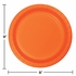 Touch of Color Sunkissed Orange Dinner Plates in quantities of 24 / pkg, 10 pkgs / case