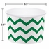 Green Chevron Ice Cream Treat Cups sold in quantities of 6 / pkg, 12 pkgs / case